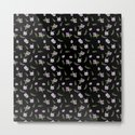 Seamless watercolor small flowers pattern on black by fuzzyfox85