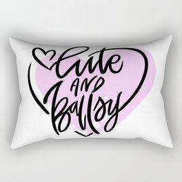 Cute and Ballsy Rectangular Pillow