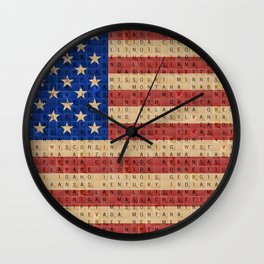 The Stars and Stripes #2 Wall Clock