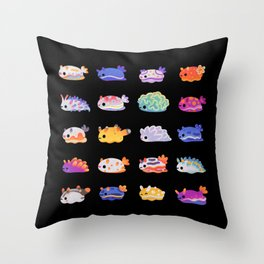 Sea Slug Day Throw Pillow