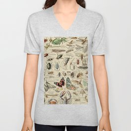Vintage Insect Identification Chart // Arthropodes by Adolphe Millot XL 19th Century Science Artwork Unisex V-Neck