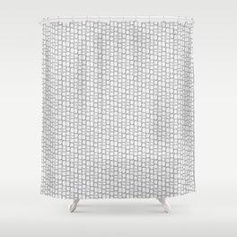 Aspen wood fiber pattern light microscopy Shower Curtain