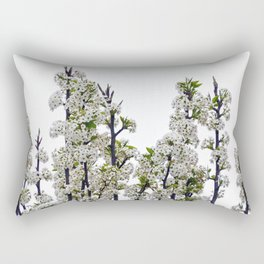 Bradford Pear Blossoms  Rectangular Pillow