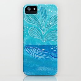 Blue Whale Spout iPhone Case