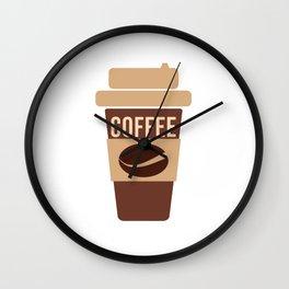 Coffee Lover Coffee Beans Cappuchino Espresso Latte Design Wall Clock