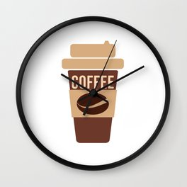 Coffee Lover Coffee Beans Cappuchino Espresso Latte Design Wall Clock