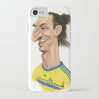 zlatan iPhone & iPod Cases featuring Ibrahimovic - Sweden by Sant Toscanni
