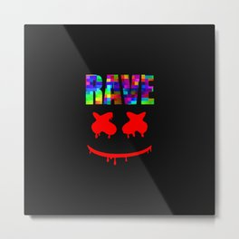 Rave smile face Metal Print
