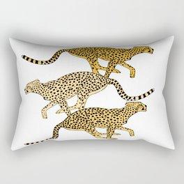Go Cheetahs Go Pen and Ink by Lorloves Design Rectangular Pillow
