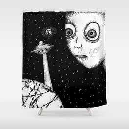 """""""Don't worry"""" - Anxiety and Gretel Shower Curtain"""