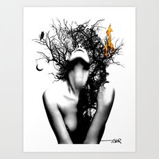 WISDOM AND FIRE Art Print