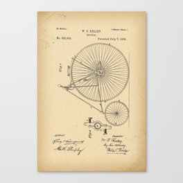 1885 Patent Bicycle Canvas Print