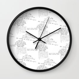 The Definition of Equality Wall Clock
