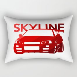 Nissan Skyline GT-R  - classic red - Rectangular Pillow