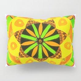 Jamaican Rhythm Mandala Pillow Sham