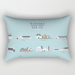 Whisky Distilleries of Islay Rectangular Pillow
