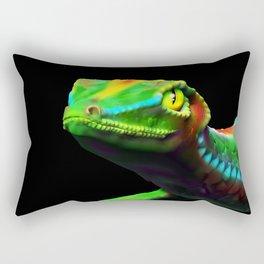 Gecko Lizard Close up 3d digital Art Rectangular Pillow
