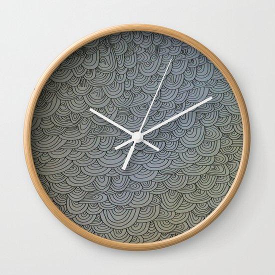Sea of Lines Wall Clock