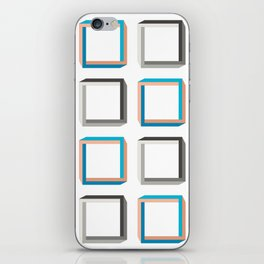 Impossible shapes alternating pattern. iPhone Skin