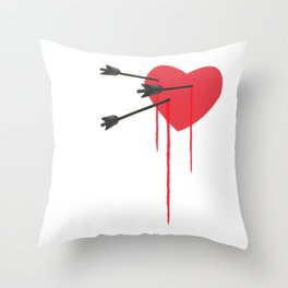 Heartbroken Throw Pillow