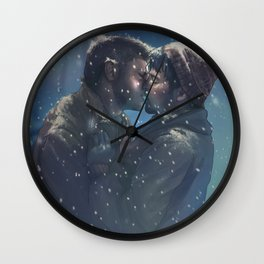Winter Destiel Wall Clock