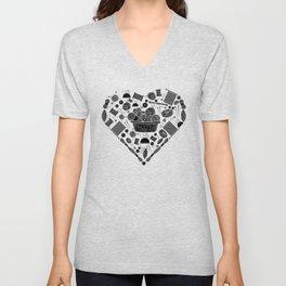 I Love Knitting | Wool Needle Heart Sewing Hobby Unisex V-Neck