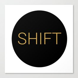 shift typewriter key [ 1 ] Canvas Print