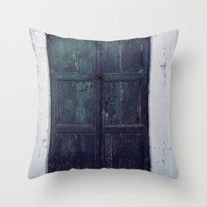 Santorini Door II Throw Pillow