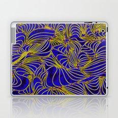 Curves in Yellow & Royal Blue Laptop & iPad Skin
