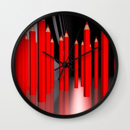 just some pencils -2- Wall Clock