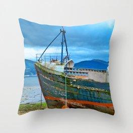 Highland Shipwreck Throw Pillow