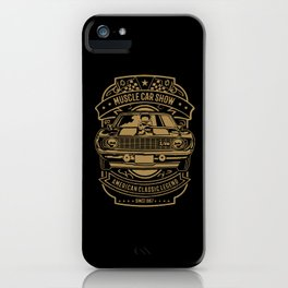 muscle car show american classic legend iPhone Case