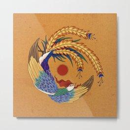 Minhwa: Asian Phoenix E Type Metal Print