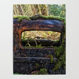 Mossy Truck Cab Poster