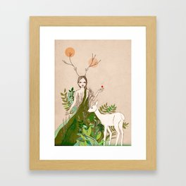Mori girl Framed Art Print