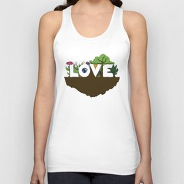 Love for Nature in Negative Space Unisex Tank Top