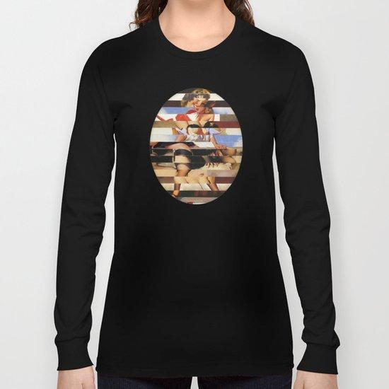 Glitch Pin-Up Redux: Daisy Long Sleeve T-shirt