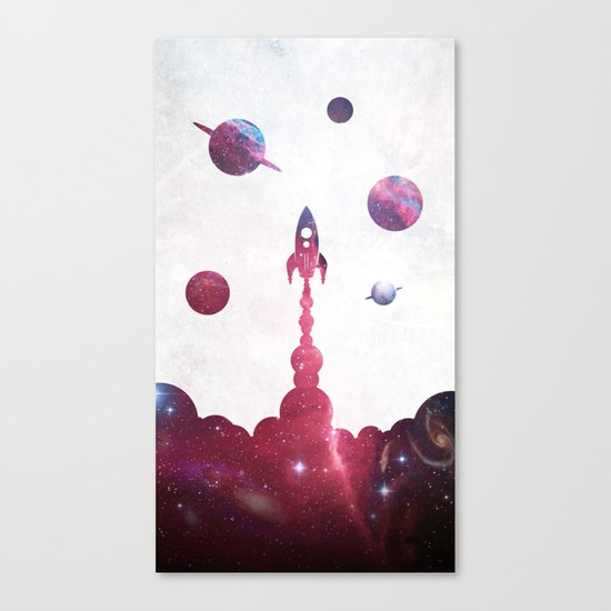 space rocket Canvas Print