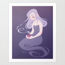 Lavender Tea Art Print