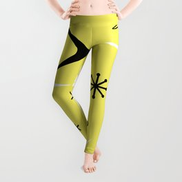 Vintage 1950s Boomerangs and Stars Yellow Leggings