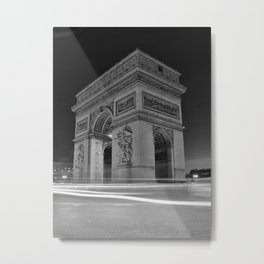 Black and White Arc de Triomphe Metal Print