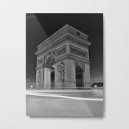 Black and White Arc de Triomphe Metal Print