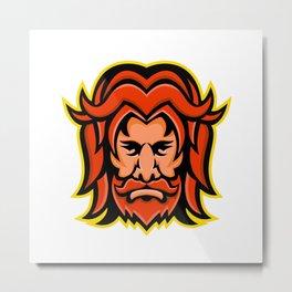 Baldr Norse God Mascot Metal Print