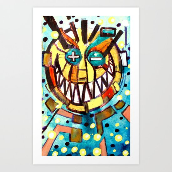 smiley face & the T Art Print