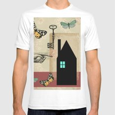 The House With The Turquoise Light On No.2 Mens Fitted Tee MEDIUM White