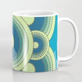 Aerial Cactus blue Coffee Mug