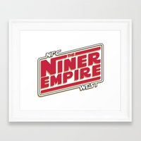 49ers Framed Art Prints featuring The Niner Empire by Meche A