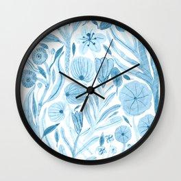 Swept Away Wildflowers Wall Clock