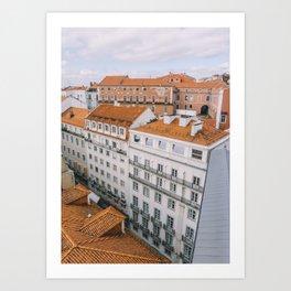Rooftops over Lisbon, Portugal Art Print