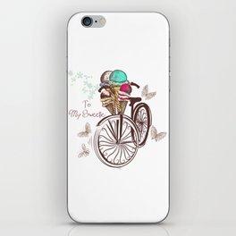 Vintage bicycle. Unbreakable romantic memories iPhone Skin